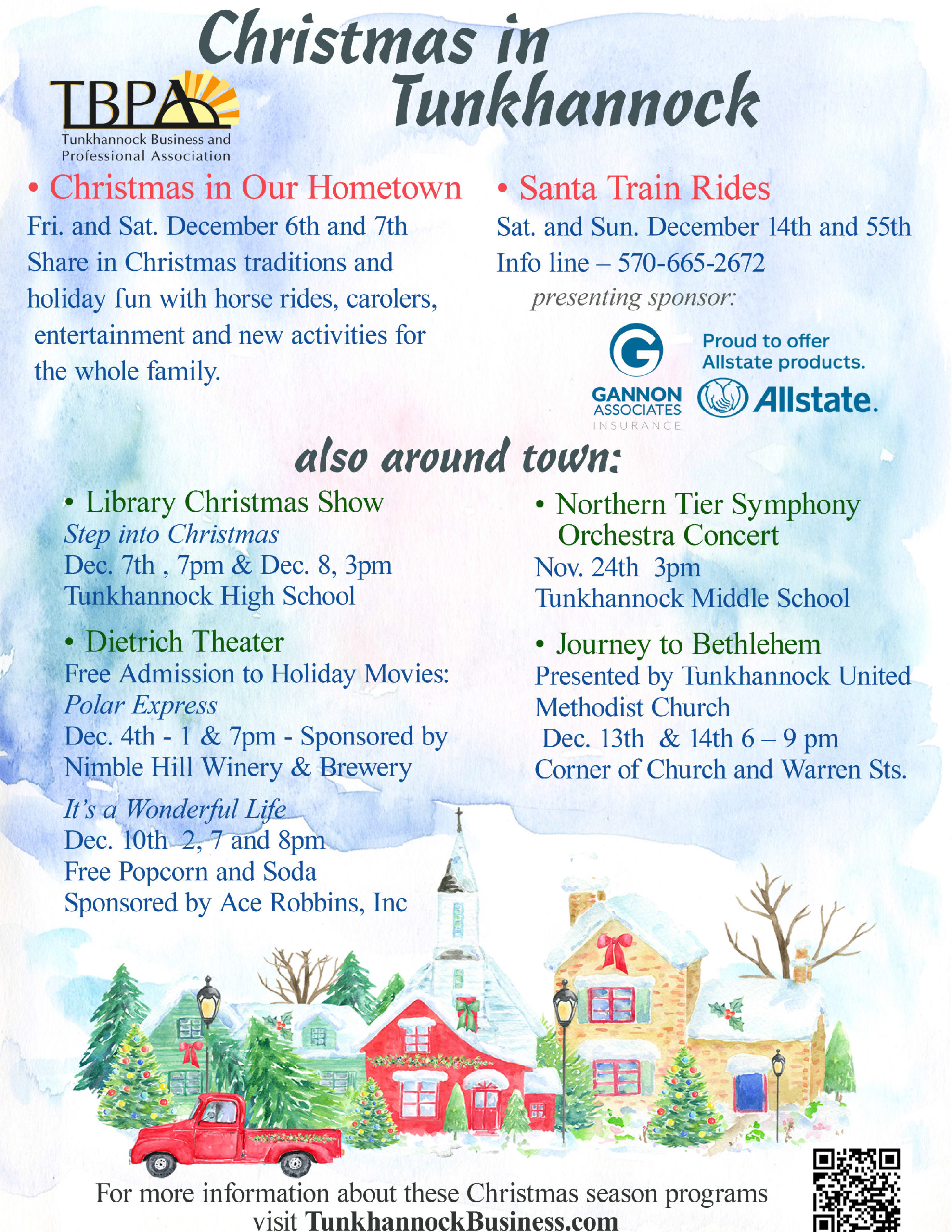 Christmas In My Hometown Tunkhannock Pa 2020 Christmas In Our Hometown   Tunkhannock Business & Professional